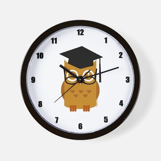 Graduation Owl Wall Clock
