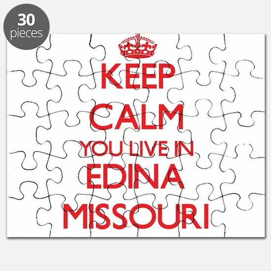 Keep calm you live in Edina Missouri Puzzle