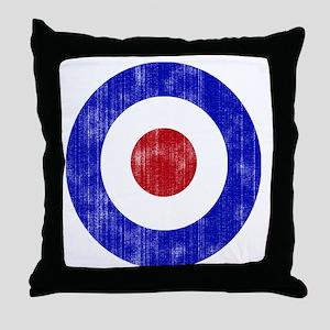 Sixties Mod Emblem Throw Pillow
