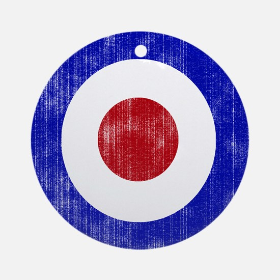 Sixties Mod Emblem Ornament (Round)