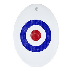 Sixties Mod Emblem Ornament (Oval)