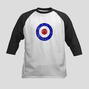 Sixties Mod Emblem Kids Baseball Jersey