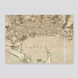 Vintage Map of Messina Italy (1900) 5'x7'Area Rug