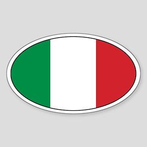 Italian Stickers Oval Sticker