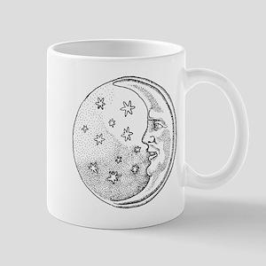 Moon With Stars Circle Mug