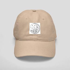 Moon With Stars Circle Cap