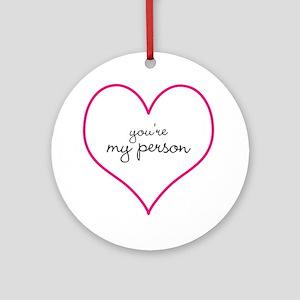 Grey's Anatomy Your My Person Mug Ornament (Round)