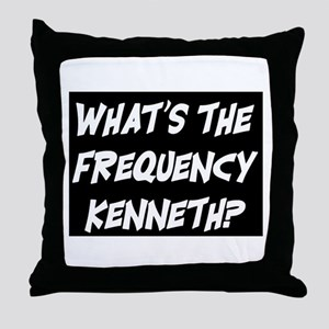 WHAT'S THE FREQUENCY? Throw Pillow