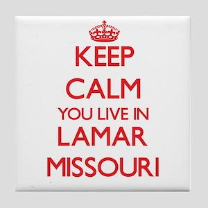 Keep calm you live in Lamar Missouri Tile Coaster
