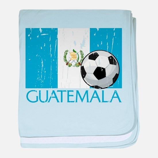 Guatemala Futbol baby blanket