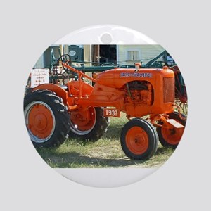 1937 Allis Chalmer Tractor Ornament (Round)