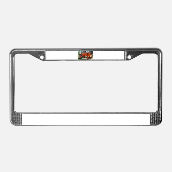1937 Allis Chalmer Tractor License Plate Frame
