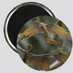 Maple Leaf Earth Dragon Magnet