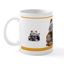 Japanese Fortune Cat Mug - Yellow