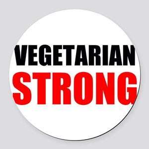 Vegetarian Strong Round Car Magnet