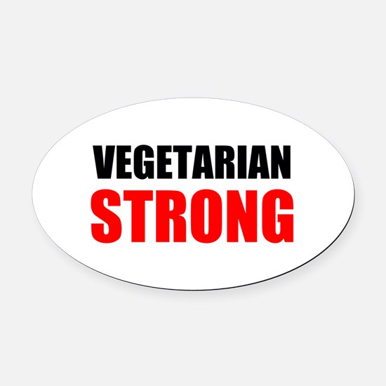 Vegetarian Strong Oval Car Magnet