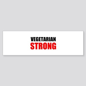 Vegetarian Strong Bumper Sticker