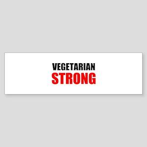 Vegetarian Strong Bumper Sticker