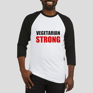 Vegetarian Strong Baseball Jersey