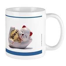Japanese Fortune Cat Mug - Navy