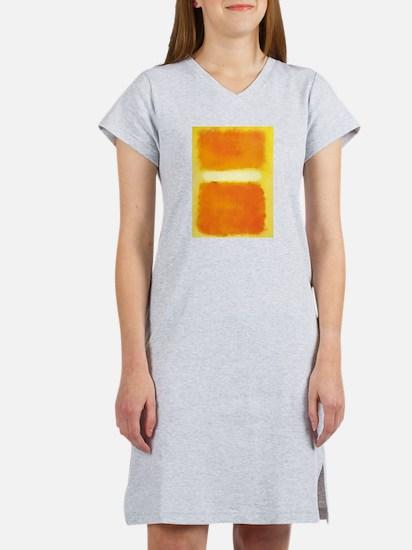 ROTHKO ORANGE AND WHITE LIGHT Women's Nightshirt