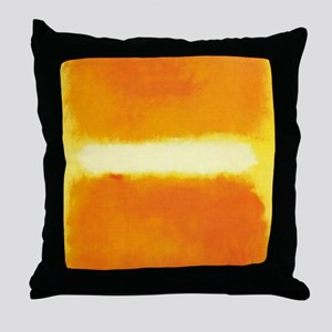 ROTHKO ORANGE AND WHITE LIGHT Throw Pillow