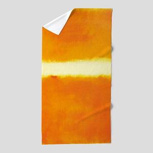 Rothko Orange And White Light Beach Towel