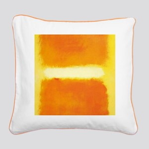 ROTHKO ORANGE AND WHITE LIGHT Square Canvas Pillow