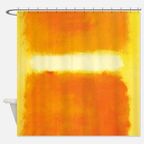 ROTHKO ORANGE AND WHITE LIGHT Shower Curtain