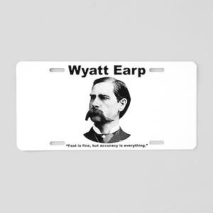 Earp: Accuracy Aluminum License Plate
