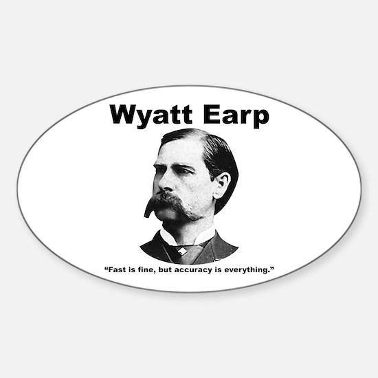 Earp: Accuracy Sticker (Oval)