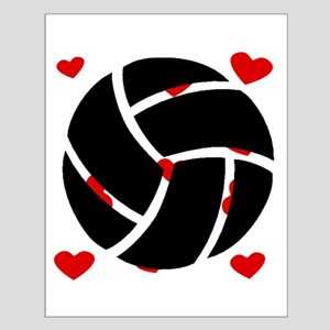 Volleyball Hearts Posters