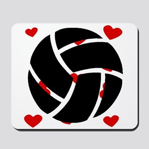 Volleyball Hearts Mousepad