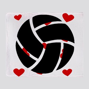 Volleyball Hearts Throw Blanket