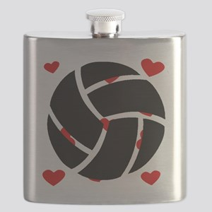 Volleyball Hearts Flask