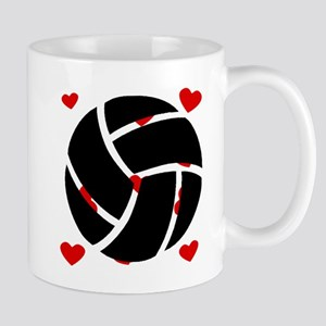 Volleyball Hearts Mugs