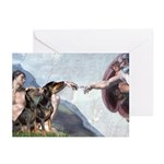 Creation / 2 Dobies Greeting Cards (Pk of 10)