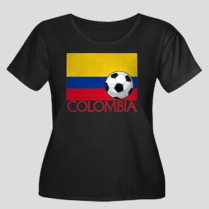 Colombia Women's Plus Size Scoop Neck Dark T-Shirt