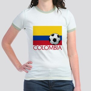 Colombia Soccer / Football Jr. Ringer T-Shirt