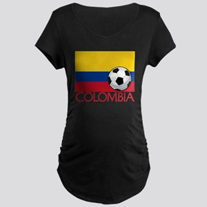 Colombia Soccer / Football Maternity Dark T-Shirt