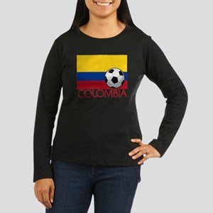 Colombia Soccer / Women's Long Sleeve Dark T-Shirt