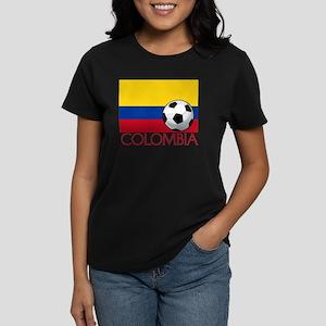 Colombia Soccer / Football Women's Dark T-Shirt
