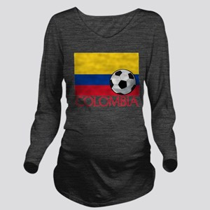 Colombia Soccer / Fo Long Sleeve Maternity T-Shirt