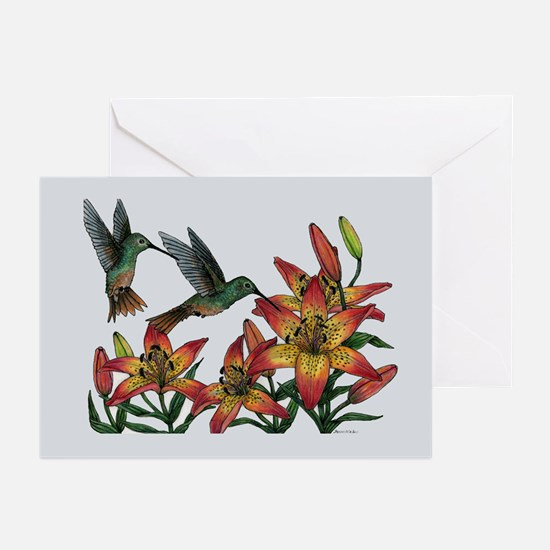 Note Cards (Pk of 10) Buffbellied Hummer