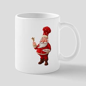 Santa Claus Bakes Gingerbread Men Mug