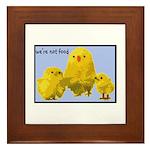 We're Not Food: Chickens Framed Tile
