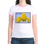 We're Not Food: Chickens Jr. Ringer T-Shirt