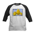 We're Not Food: Chickens Kids Baseball Jersey