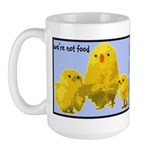 We're Not Food: Chickens Large Mug