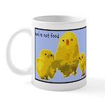 We're Not Food: Chickens Mug